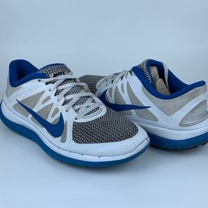 Nike Free 4.0 V4 Running Shoes White Blue 9.5